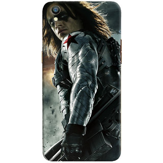 ColourCrust Oppo F1 Plus Mobile Phone Back Cover With Bucky - Durable Matte Finish Hard Plastic Slim Case
