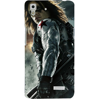 ColourCrust Oppo R7 Mobile Phone Back Cover With Bucky - Durable Matte Finish Hard Plastic Slim Case