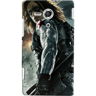 ColourCrust Sony Xperia SP Mobile Phone Back Cover With Bucky - Durable Matte Finish Hard Plastic Slim Case