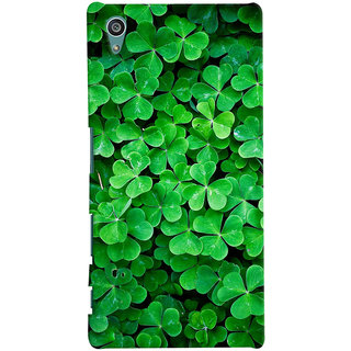 ColourCrust Sony Xperia Z5 Mobile Phone Back Cover With Green Flower Shape Leaves - Durable Matte Finish Hard Plastic Slim Case