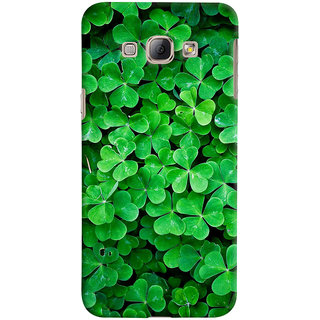 ColourCrust Samsung Galaxy A8 (2015) Mobile Phone Back Cover With Green Flower Shape Leaves - Durable Matte Finish Hard Plastic Slim Case