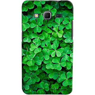 ColourCrust Samsung Galaxy Core Prime G360 Mobile Phone Back Cover With Green Flower Shape Leaves - Durable Matte Finish Hard Plastic Slim Case