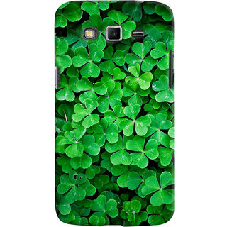 ColourCrust Samsung Galaxy Grand 2 G7106 Mobile Phone Back Cover With Green Flower Shape Leaves - Durable Matte Finish Hard Plastic Slim Case