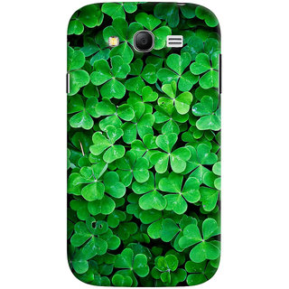 ColourCrust Samsung Galaxy Grand Duos / i9082 Mobile Phone Back Cover With Green Flower Shape Leaves - Durable Matte Finish Hard Plastic Slim Case