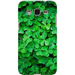 ColourCrust Samsung Galaxy J2 Mobile Phone Back Cover With Green Flower Shape Leaves - Durable Matte Finish Hard Plastic Slim Case