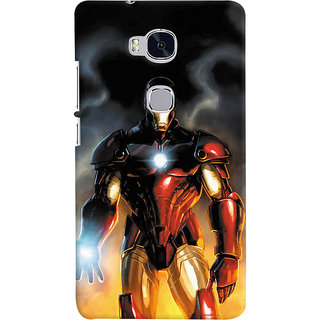 ColourCrust Huawei Honor 5X / Dual Sim Mobile Phone Back Cover With Iron Man With Mask - Durable Matte Finish Hard Plastic Slim Case