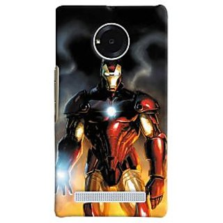 ColourCrust Micromax Yuphoria Mobile Phone Back Cover With Iron Man With Mask - Durable Matte Finish Hard Plastic Slim Case