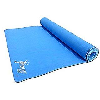 Gravolite 10 MM Thickness Plain Yoga Mat Sky Blue Color with Strap