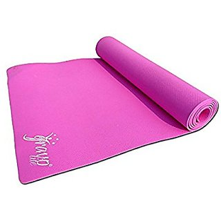 Gravolite 7 MM Thickness & 24 Inch Wide * 78 Inch Length Plain Yoga Mat Pink Color with Strap