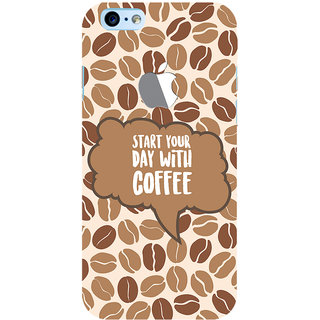 ColourCrust New Apple iPhone 6 with Logo Mobile Phone Back Cover With Coffee Beans Pattern Style - Durable Matte Finish Hard Plastic Slim Case