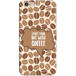 ColourCrust Apple iPhone 6 Plus Mobile Phone Back Cover With Coffee Beans Pattern Style - Durable Matte Finish Hard Plastic Slim Case