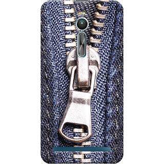 ColourCrust Asus Zenfone 2 ZE550ML Mobile Phone Back Cover With Denim Look - Durable Matte Finish Hard Plastic Slim Case