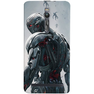 ColourCrust Asus Zenfone 2 ZE551ML Mobile Phone Back Cover With Ultron Back - Durable Matte Finish Hard Plastic Slim Case