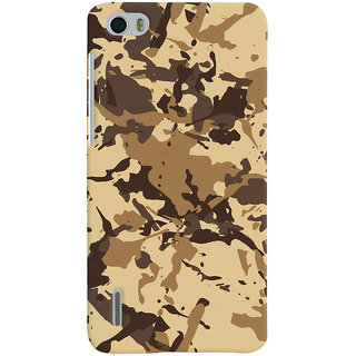 ColourCrust Huawei Honor 6 / Dual Sim Mobile Phone Back Cover With Millitary Pattern Style - Durable Matte Finish Hard Plastic Slim Case