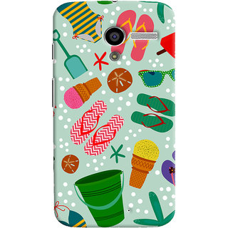 ColourCrust Motorola Moto X Mobile Phone Back Cover With Beach Time Pattern - Durable Matte Finish Hard Plastic Slim Case