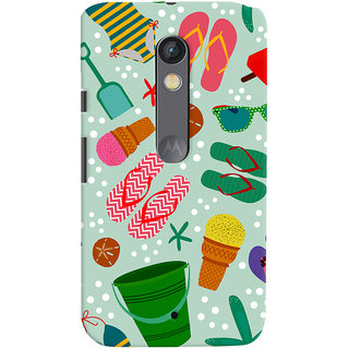 ColourCrust Motorola Moto X Play Mobile Phone Back Cover With Beach Time Pattern - Durable Matte Finish Hard Plastic Slim Case