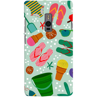 ColourCrust OnePlus 2 Mobile Phone Back Cover With Beach Time Pattern - Durable Matte Finish Hard Plastic Slim Case