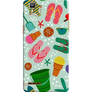 ColourCrust Oppo F1 Mobile Phone Back Cover With Beach Time Pattern - Durable Matte Finish Hard Plastic Slim Case