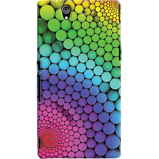ColourCrust Sony Xperia Z Mobile Phone Back Cover With Colourful Pattern Style - Durable Matte Finish Hard Plastic Slim Case