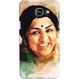 ColourCrust Samsung Galaxy A5 A510 (2016 Edition) Mobile Phone Back Cover With Lata Mangeshkar - Durable Matte Finish Hard Plastic Slim Case