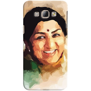 ColourCrust Samsung Galaxy A8 (2015) Mobile Phone Back Cover With Lata Mangeshkar - Durable Matte Finish Hard Plastic Slim Case