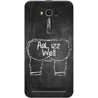 ColourCrust Asus Zenfone 2 Laser ZE550KL / Zenfone 5.5 Mobile Phone Back Cover With Aal Izz Well Quirky - Durable Matte Finish Hard Plastic Slim Case