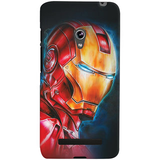 ColourCrust Asus Zenfone 5 Mobile Phone Back Cover With Iron Man - Durable Matte Finish Hard Plastic Slim Case