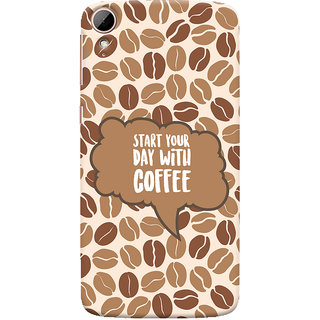 ColourCrust HTC Desire 828 / Dual Sim Mobile Phone Back Cover With Coffee Beans Pattern Style - Durable Matte Finish Hard Plastic Slim Case