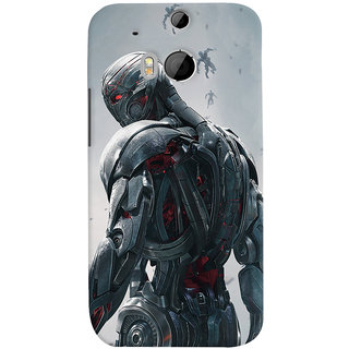 ColourCrust HTC One M8 Mobile Phone Back Cover With Ultron Back - Durable Matte Finish Hard Plastic Slim Case