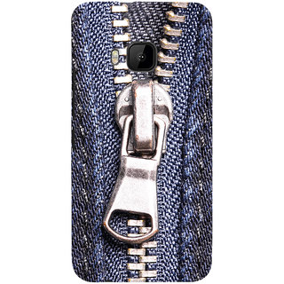 ColourCrust HTC One M9 Mobile Phone Back Cover With Denim Look - Durable Matte Finish Hard Plastic Slim Case