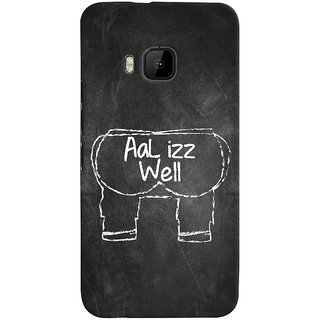 ColourCrust HTC One M9 Mobile Phone Back Cover With Aal Izz Well Quirky - Durable Matte Finish Hard Plastic Slim Case
