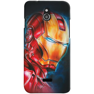 ColourCrust Infocus M2 Mobile Phone Back Cover With Iron Man - Durable Matte Finish Hard Plastic Slim Case