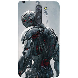 ColourCrust LG G3 Stylus / Optimus G3 Stylus Mobile Phone Back Cover With Ultron Back - Durable Matte Finish Hard Plastic Slim Case