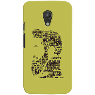 ColourCrust Motorola Moto G2 / Second Generation Mobile Phone Back Cover With Beard Love Quirky - Durable Matte Finish Hard Plastic Slim Case