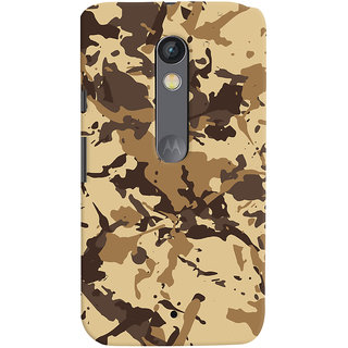 ColourCrust Motorola Moto X Play Mobile Phone Back Cover With Millitary Pattern Style - Durable Matte Finish Hard Plastic Slim Case