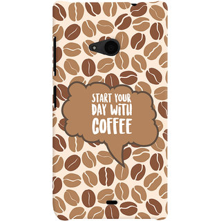 ColourCrust Microsoft Lumia 535 / Dual Sim Mobile Phone Back Cover With Coffee Beans Pattern Style - Durable Matte Finish Hard Plastic Slim Case