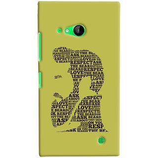 ColourCrust Microsoft Lumia 730 / Dual Sim Mobile Phone Back Cover With Beard Love Quirky - Durable Matte Finish Hard Plastic Slim Case