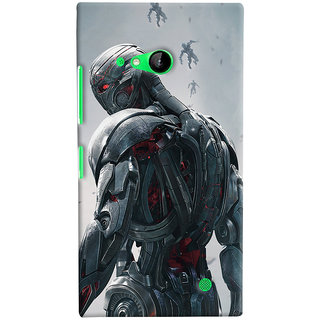 ColourCrust Microsoft Lumia 730 / Dual Sim Mobile Phone Back Cover With Ultron Back - Durable Matte Finish Hard Plastic Slim Case