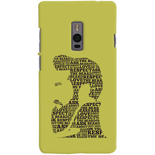 ColourCrust OnePlus 2 Mobile Phone Back Cover With Beard Love Quirky - Durable Matte Finish Hard Plastic Slim Case