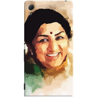 ColourCrust Sony Xperia Z4 Mobile Phone Back Cover With Lata Mangeshkar - Durable Matte Finish Hard Plastic Slim Case