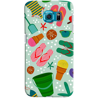 ColourCrust Samsung Galaxy S6 Mobile Phone Back Cover With Beach Time Pattern - Durable Matte Finish Hard Plastic Slim Case