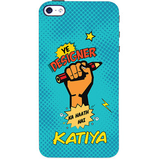 ColourCrust Apple iPhone 4 Mobile Phone Back Cover With Designer Ka Haath Katiya Quirky - Durable Matte Finish Hard Plastic Slim Case