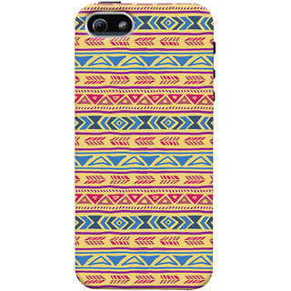 ColourCrust Apple iPhone 5 Mobile Phone Back Cover With Indian Pattern - Durable Matte Finish Hard Plastic Slim Case