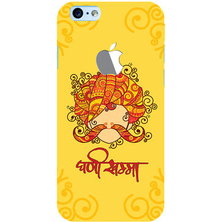 ColourCrust New Apple iPhone 6 with Logo Mobile Phone Back Cover With Ghani Khamma Rajasthani Style - Durable Matte Finish Hard Plastic Slim Case