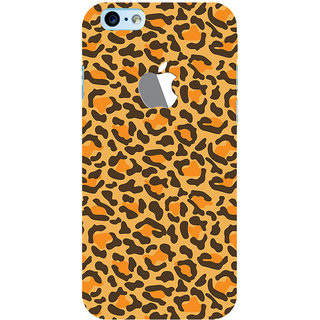 ColourCrust New Apple iPhone 6 with Logo Mobile Phone Back Cover With Animal Print - Durable Matte Finish Hard Plastic Slim Case