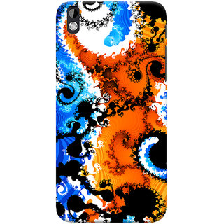 ColourCrust HTC Desire 816 Mobile Phone Back Cover With Colourful Art Pattern Style - Durable Matte Finish Hard Plastic Slim Case