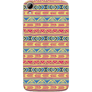 ColourCrust HTC Desire 828 / Dual Sim Mobile Phone Back Cover With Indian Pattern - Durable Matte Finish Hard Plastic Slim Case