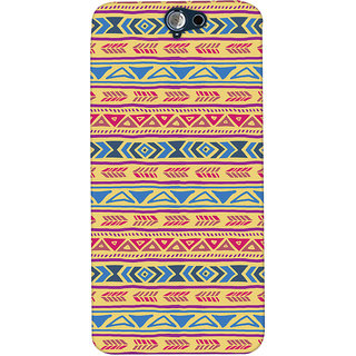 ColourCrust HTC One A9 Mobile Phone Back Cover With Indian Pattern - Durable Matte Finish Hard Plastic Slim Case