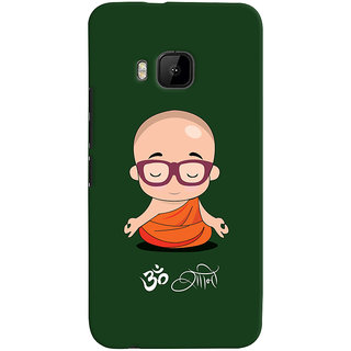 ColourCrust HTC One M9 Mobile Phone Back Cover With Om Shanti Quirky - Durable Matte Finish Hard Plastic Slim Case
