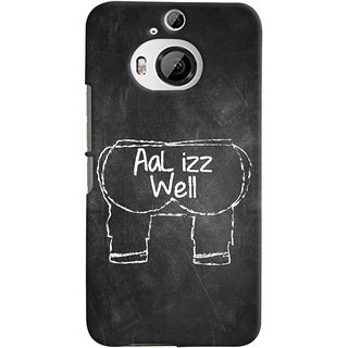 ColourCrust HTC One M9 Plus Mobile Phone Back Cover With Aal Izz Well Quirky - Durable Matte Finish Hard Plastic Slim Case
